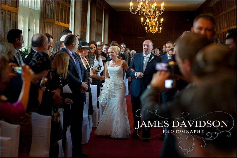 bride arriving gosfield hall wedding photographer