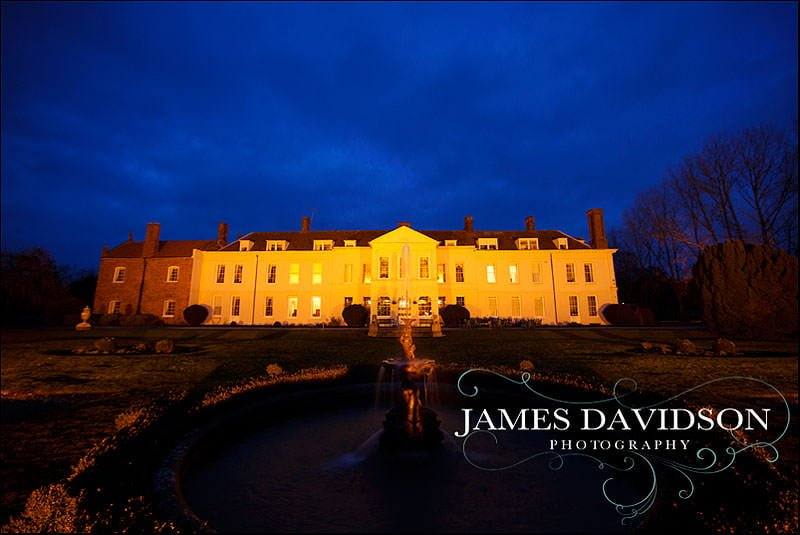 Gosfield Hall at night