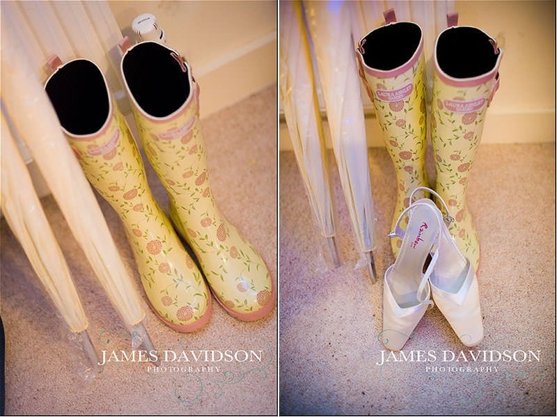 floral wedding wellies