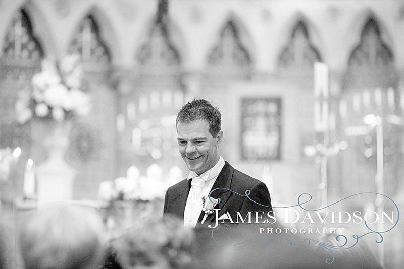 nervous groom before ceremony
