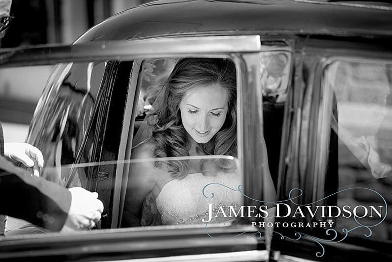 bride arriving for dingle wedding