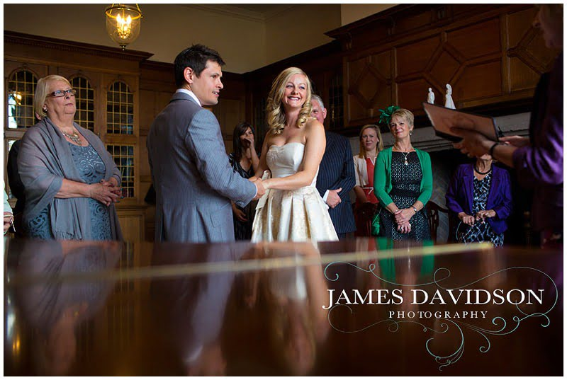 civil ceremony at Hengrave Hall library