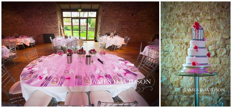 wedding set up for the barn at notley abbey