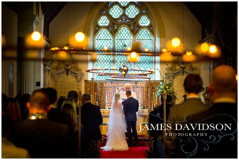 Glemham Hall wedding church