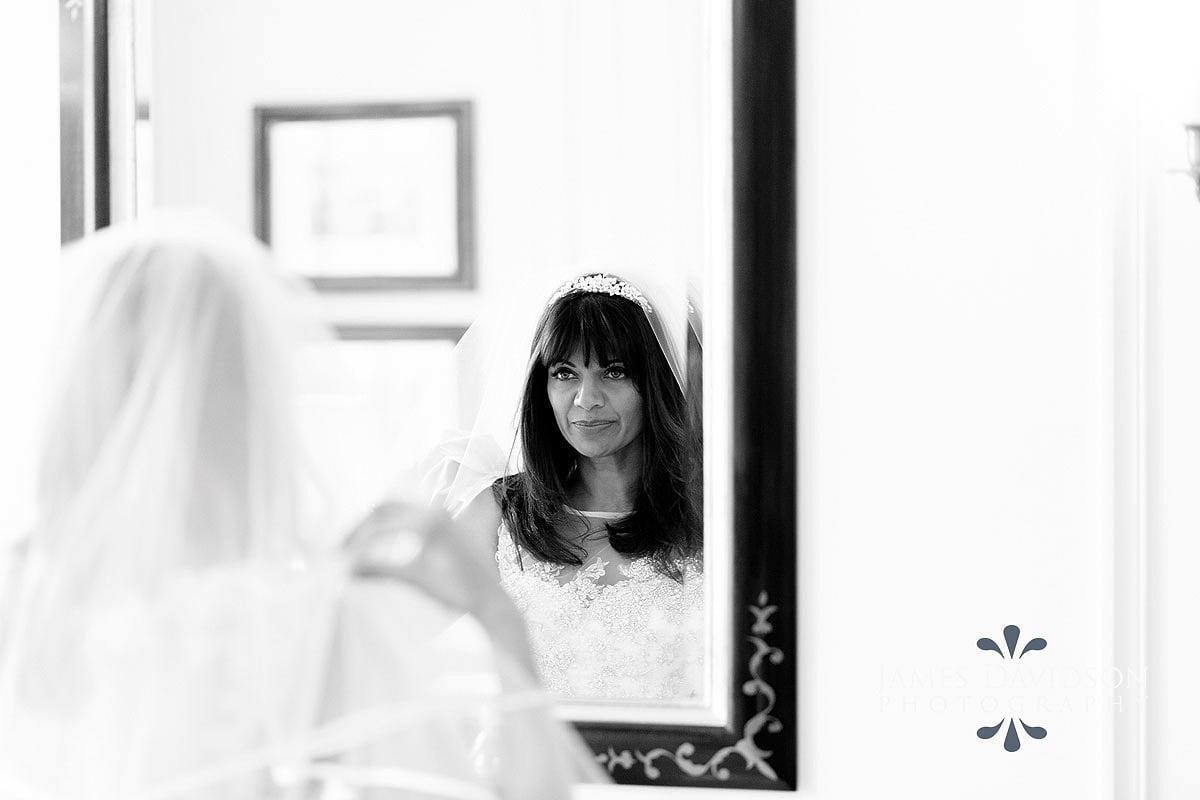 bride getting ready in Savoy hotel wedding