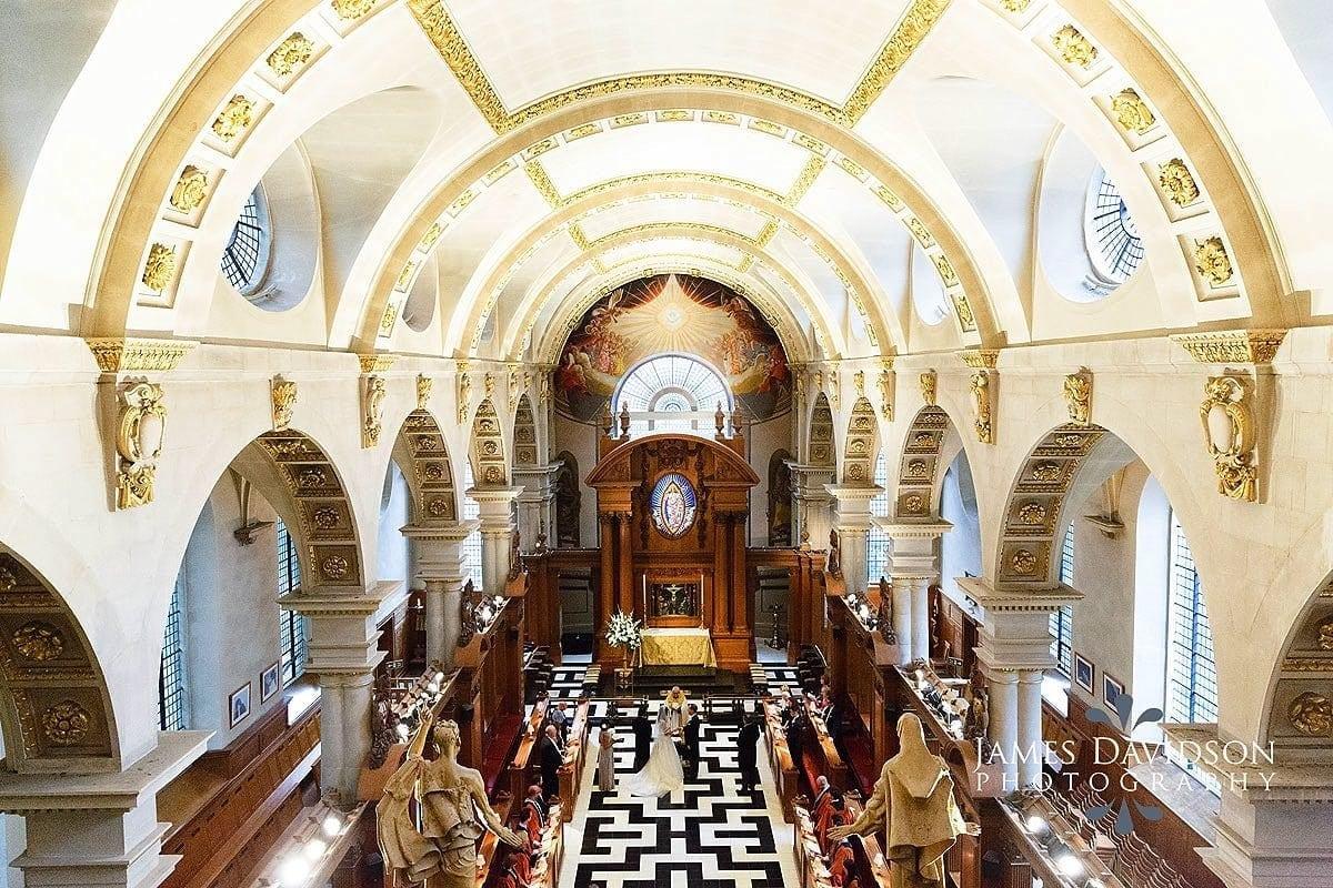 St Brides Fleet Street wedding
