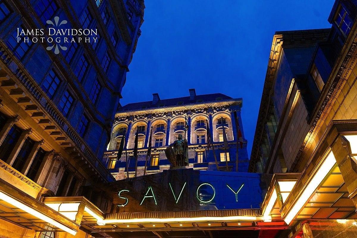 Savoy hotel at night