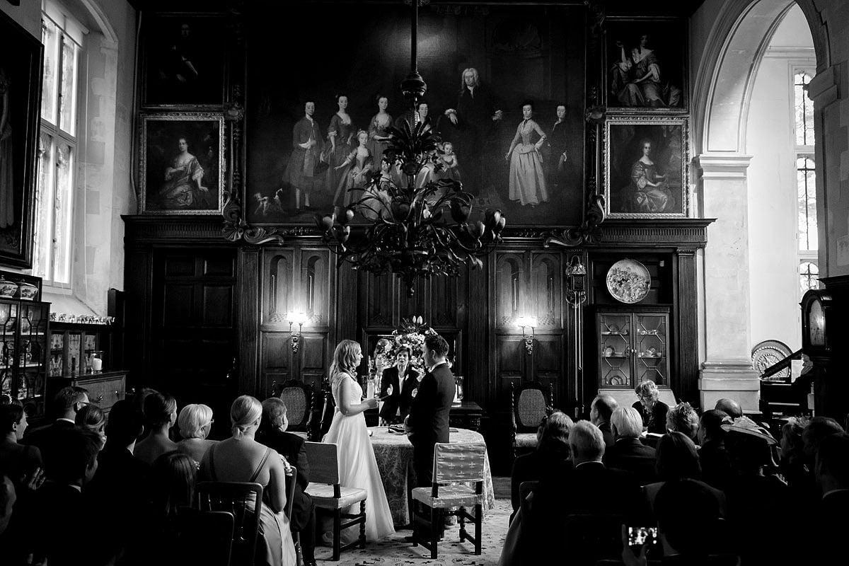 wedding vows at Loseley