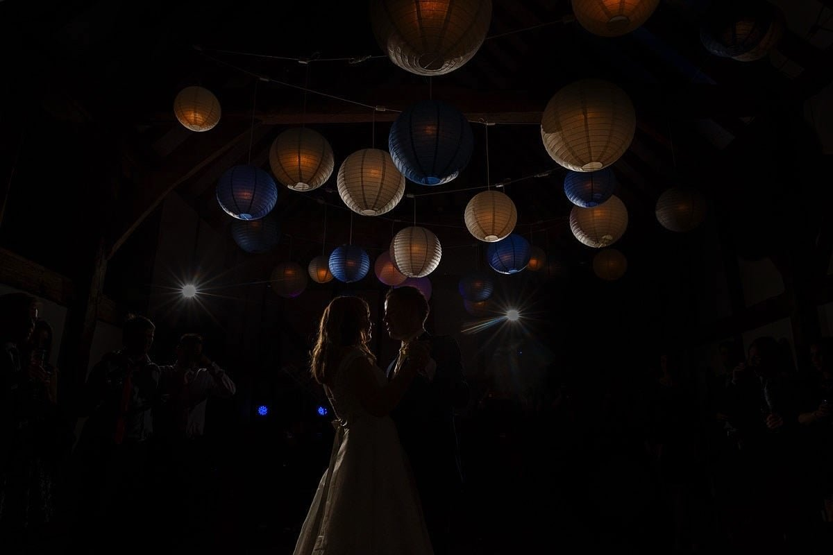 first dance at loseley wedding