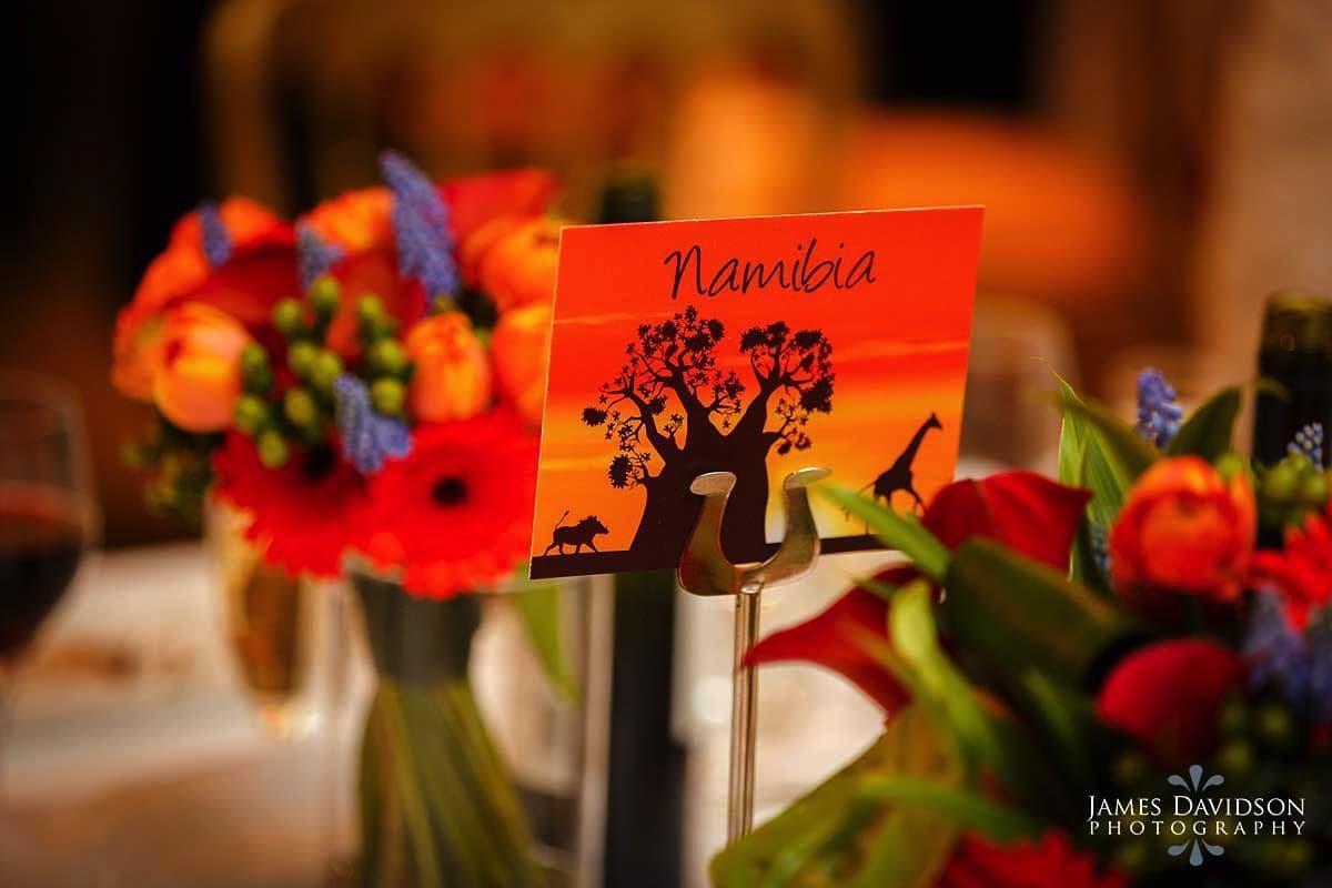 african wedding table plan