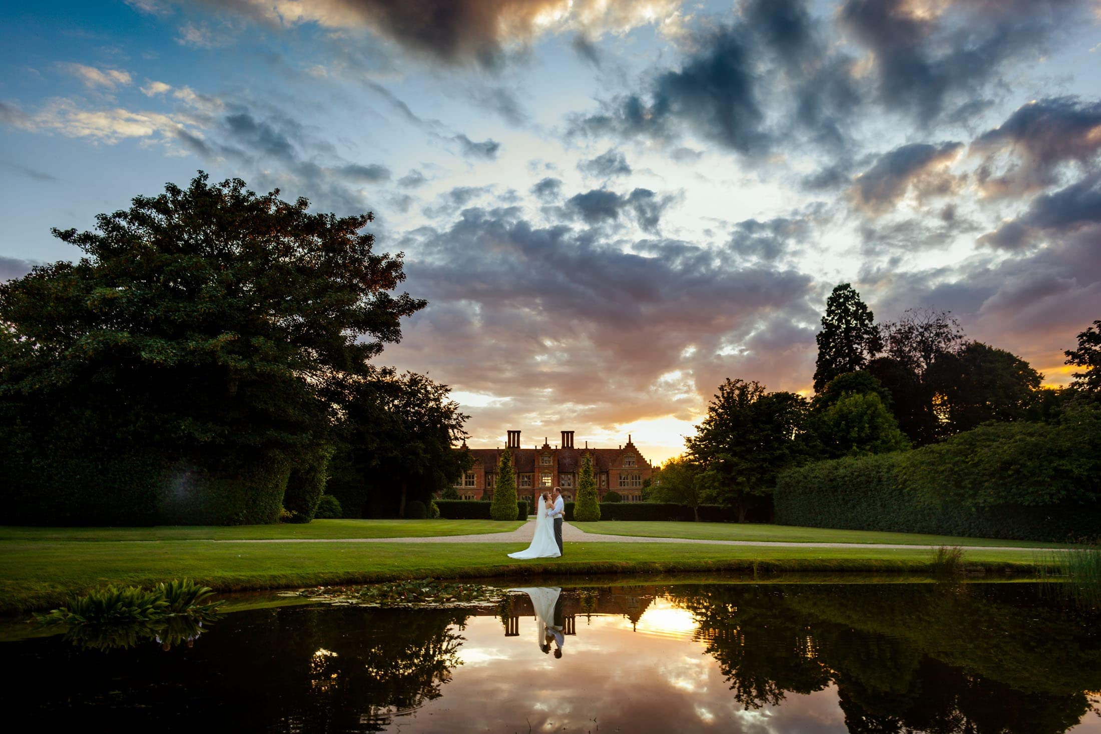 Haughley Park Barn wedding photography of Lucy and Paul