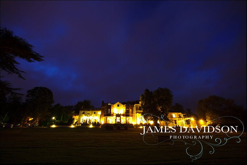 Taplow House at night