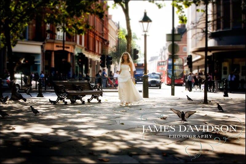 Bride in Sloane Square London