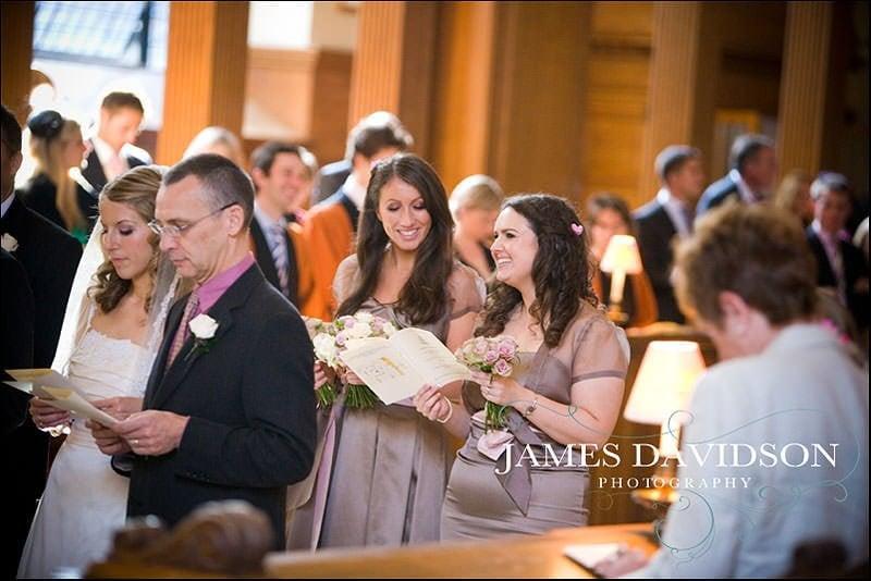 singing at St Brides