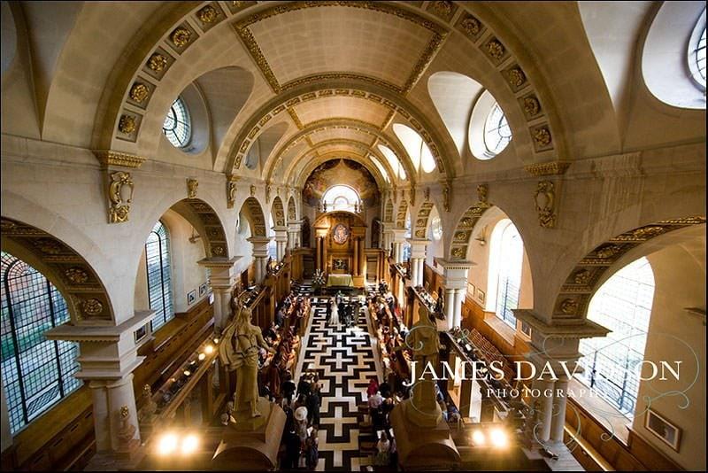 Wedding at St Brides Fleet Street