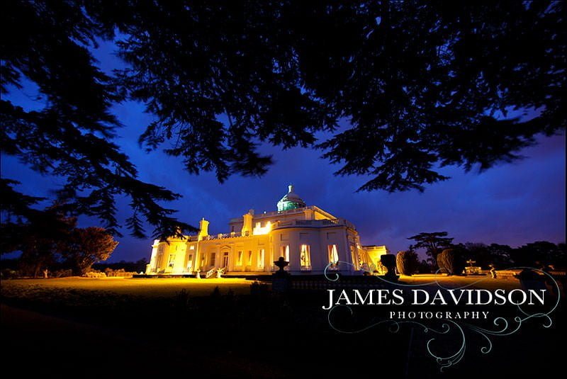 stoke park wedding at night
