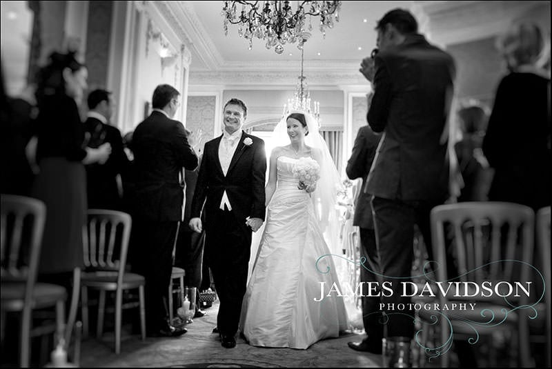 walking down the aisle at stoke park club