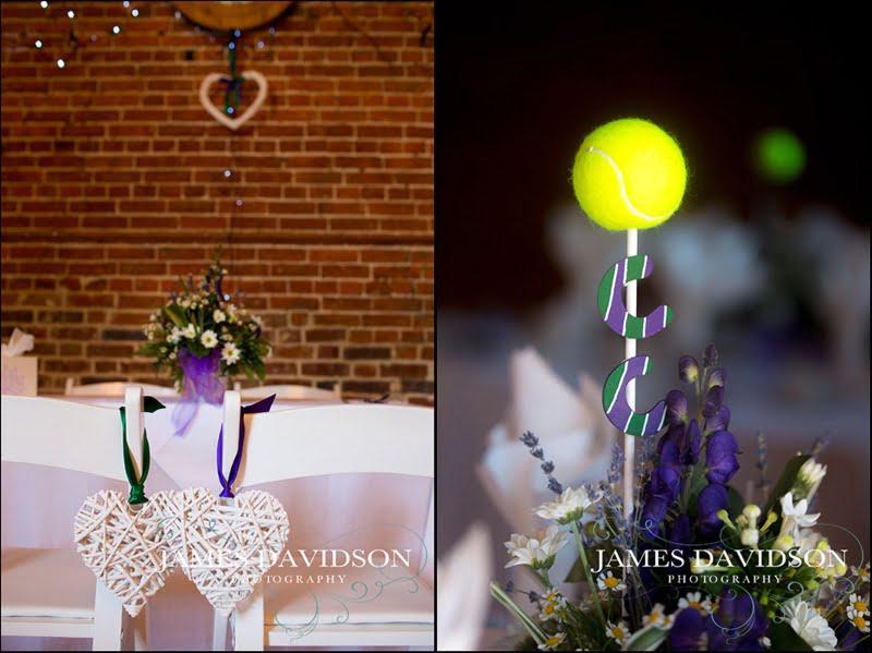 tennis themed wedding