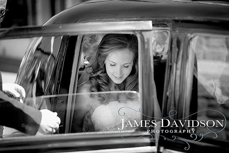 bride arriving for dingle wedding