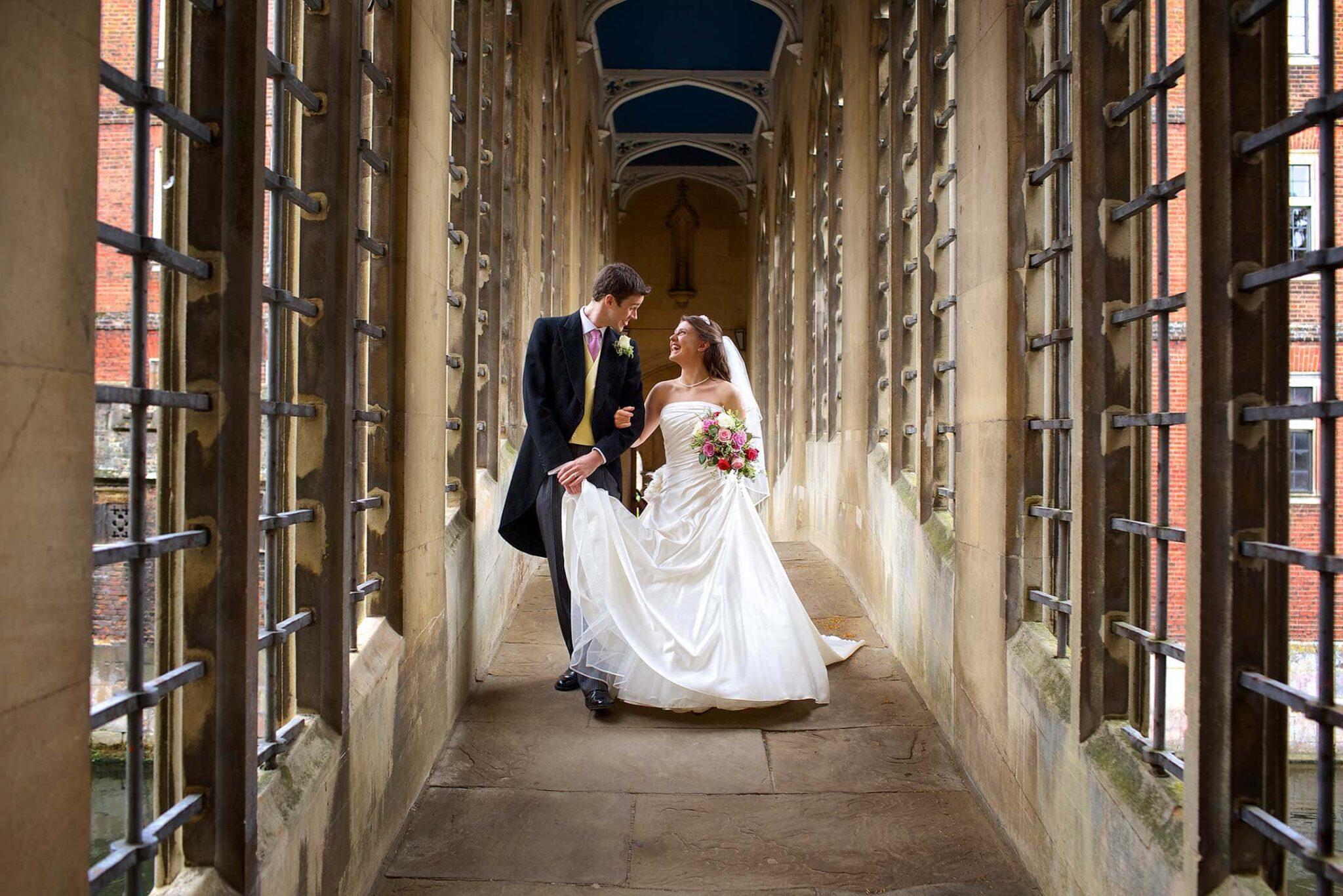 St John's College wedding photography of Tina and James