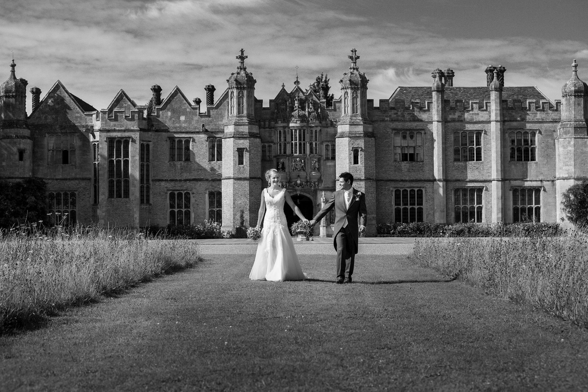 Wedding photography at Hengrave Hall of Katie and Dom
