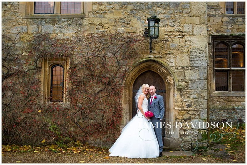 Notely Abbey wedding photography of Becky and Tony