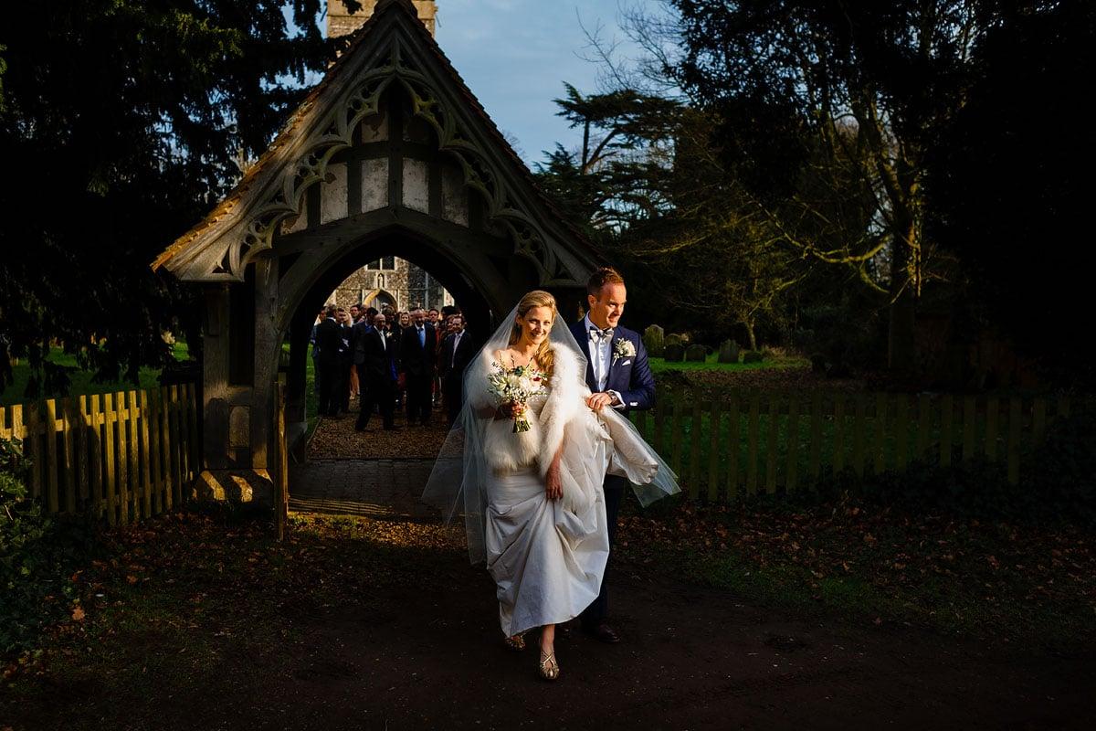 Glemham Hall winter wedding
