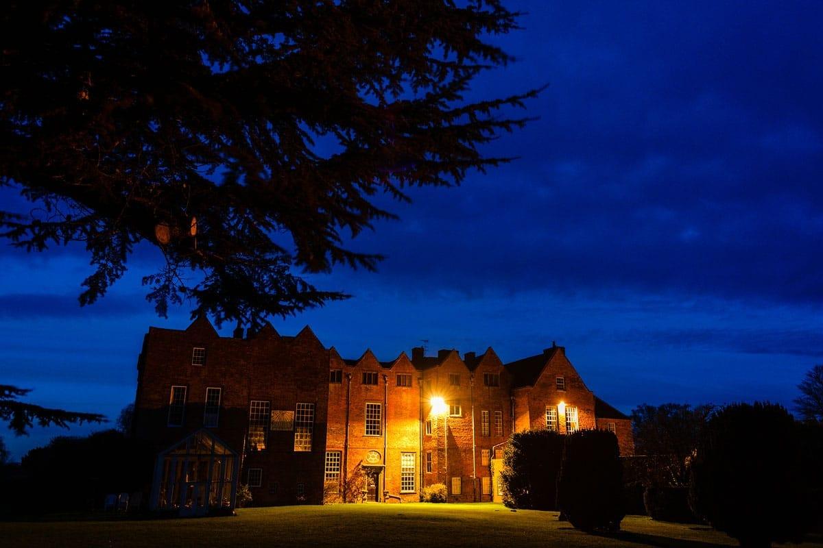 Glemham Hall at night
