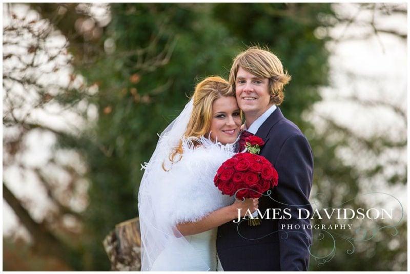 Gosfield Hall winter wedding photography of Natalie & James