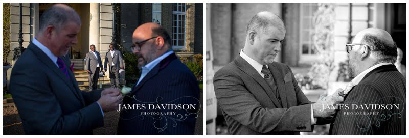 groom and best man at hedsor house
