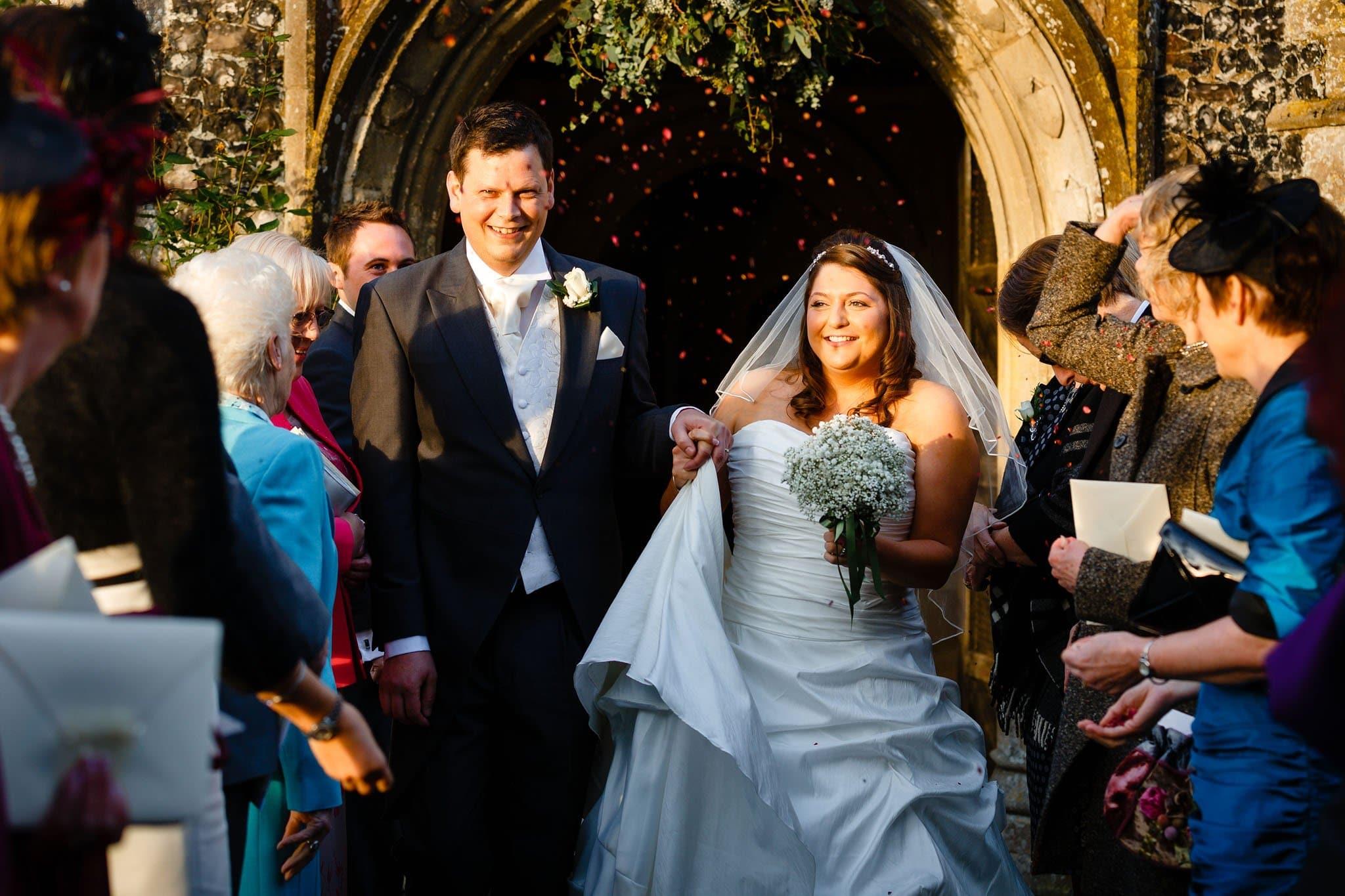 Winter wedding photography at Hengrave Hall of Becky & Kieran