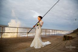 fishing wedding photography