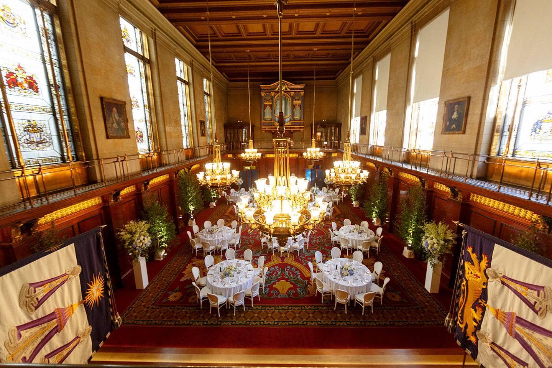 Merchant Taylors Hall wedding set up