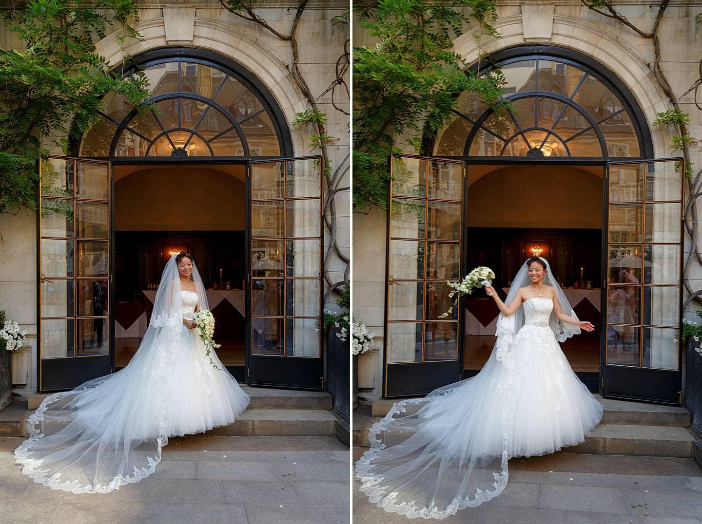 Elegant Merchant Taylors Hall bride