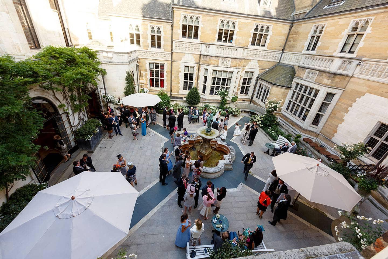 Merchant Taylors Hall courtyard
