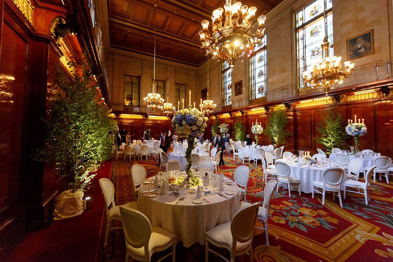 Merchant Taylors Hall wedding breakfast
