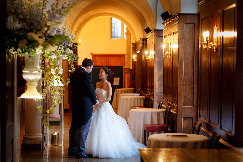 Merchant Taylors Hall bride and groom