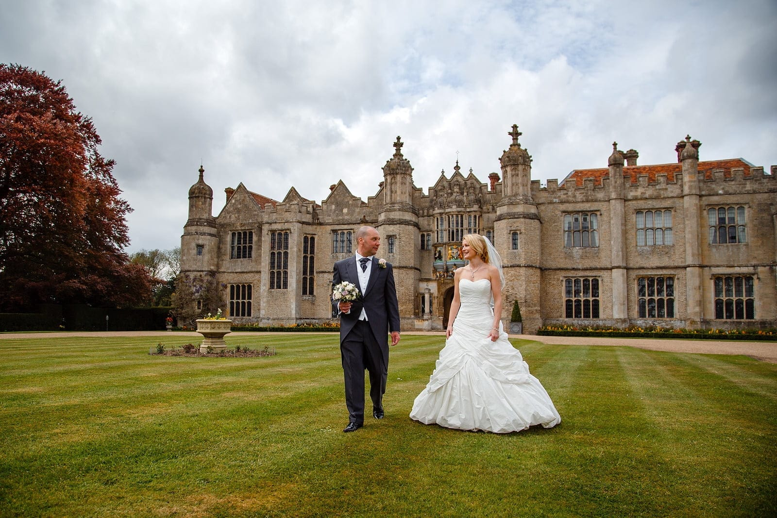 Spring wedding at Hengrave Hall