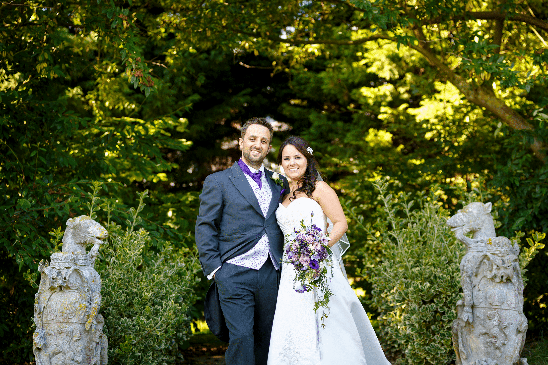 Chippenham Park wedding photography of Becky and Will