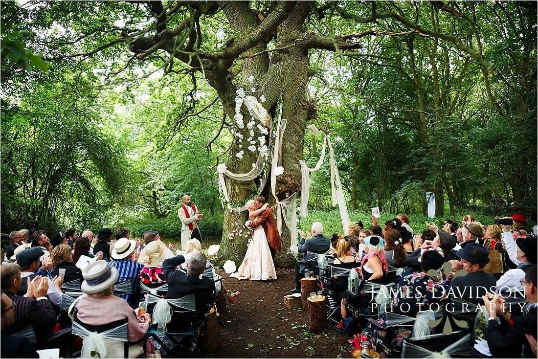 Steam punk wedding photo