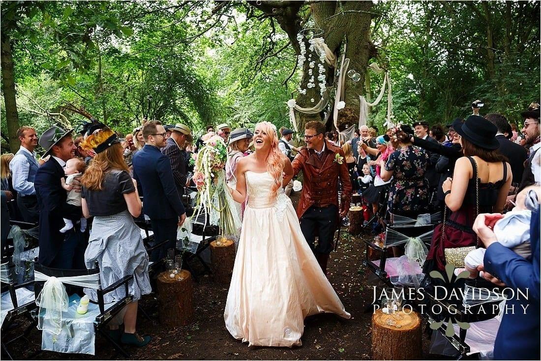 Steam punk yurt wedding