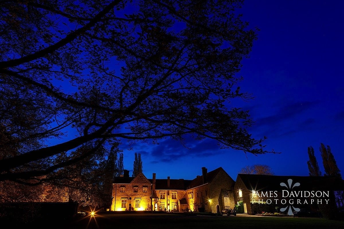 Notley Abbey at night
