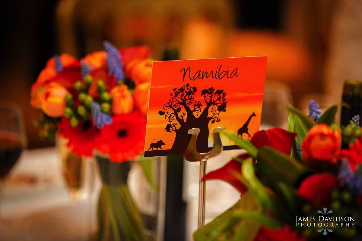 african wedding table plan