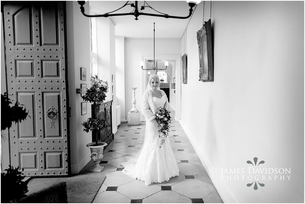 Gosfield Hall winter wedding photography