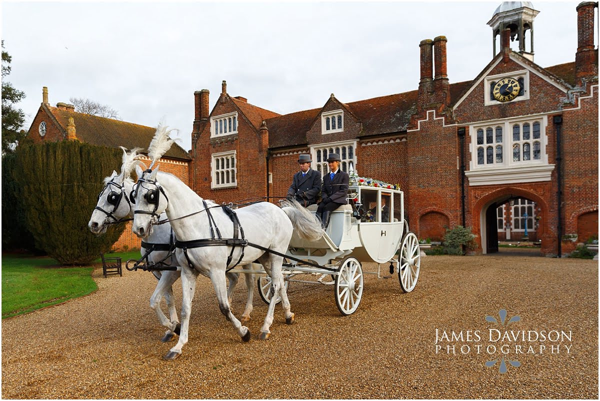 gosfield wedding horse and carriage
