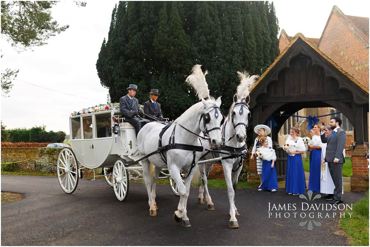 horse and carriage gosfield wedding