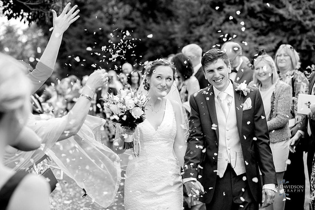 Long Barn wedding confetti