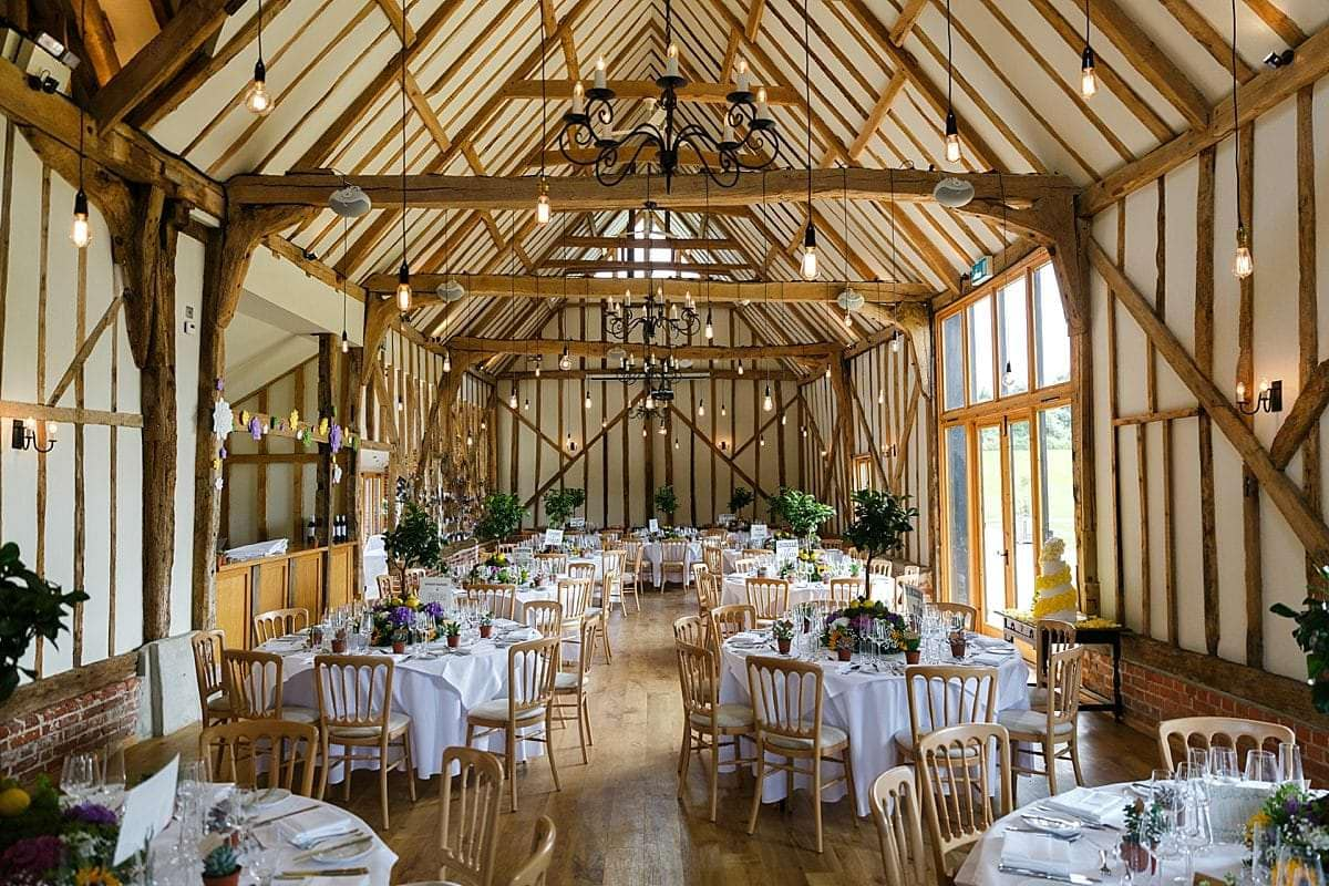 Bruisyard Hall Barn wedding