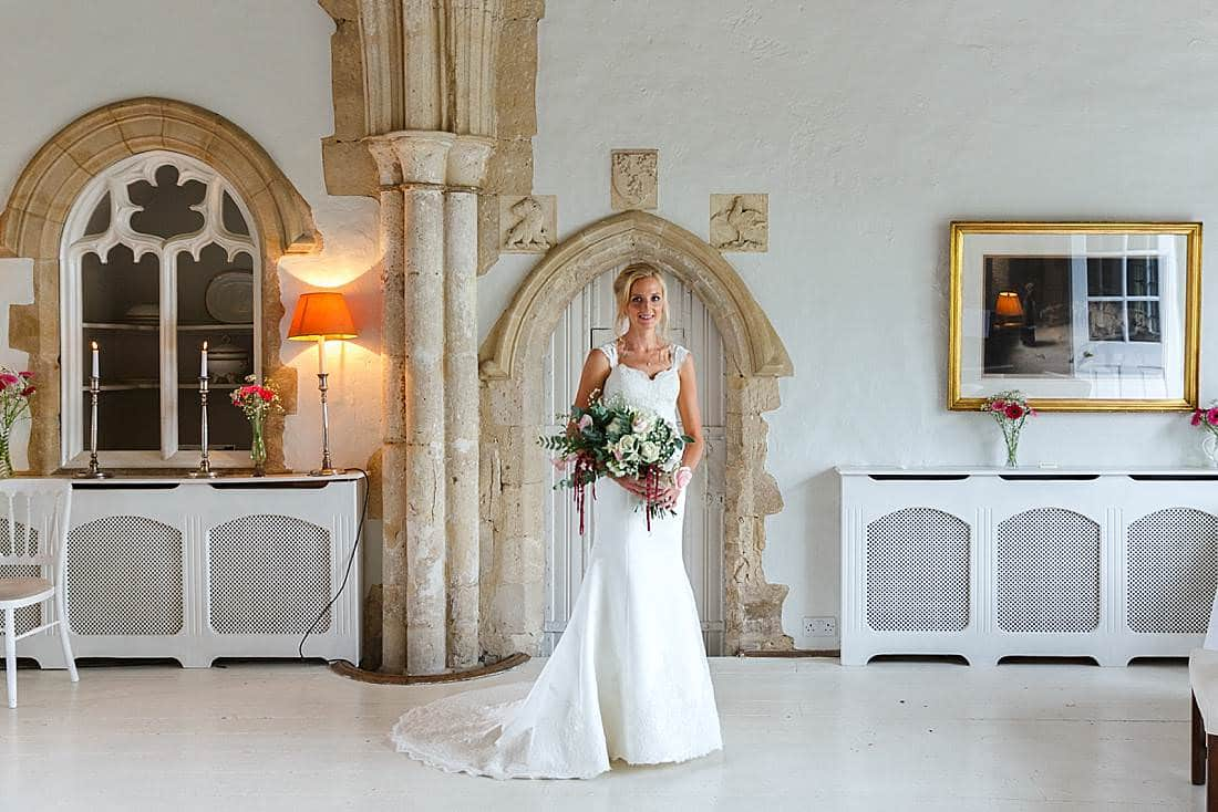 Butley Priory wedding bride