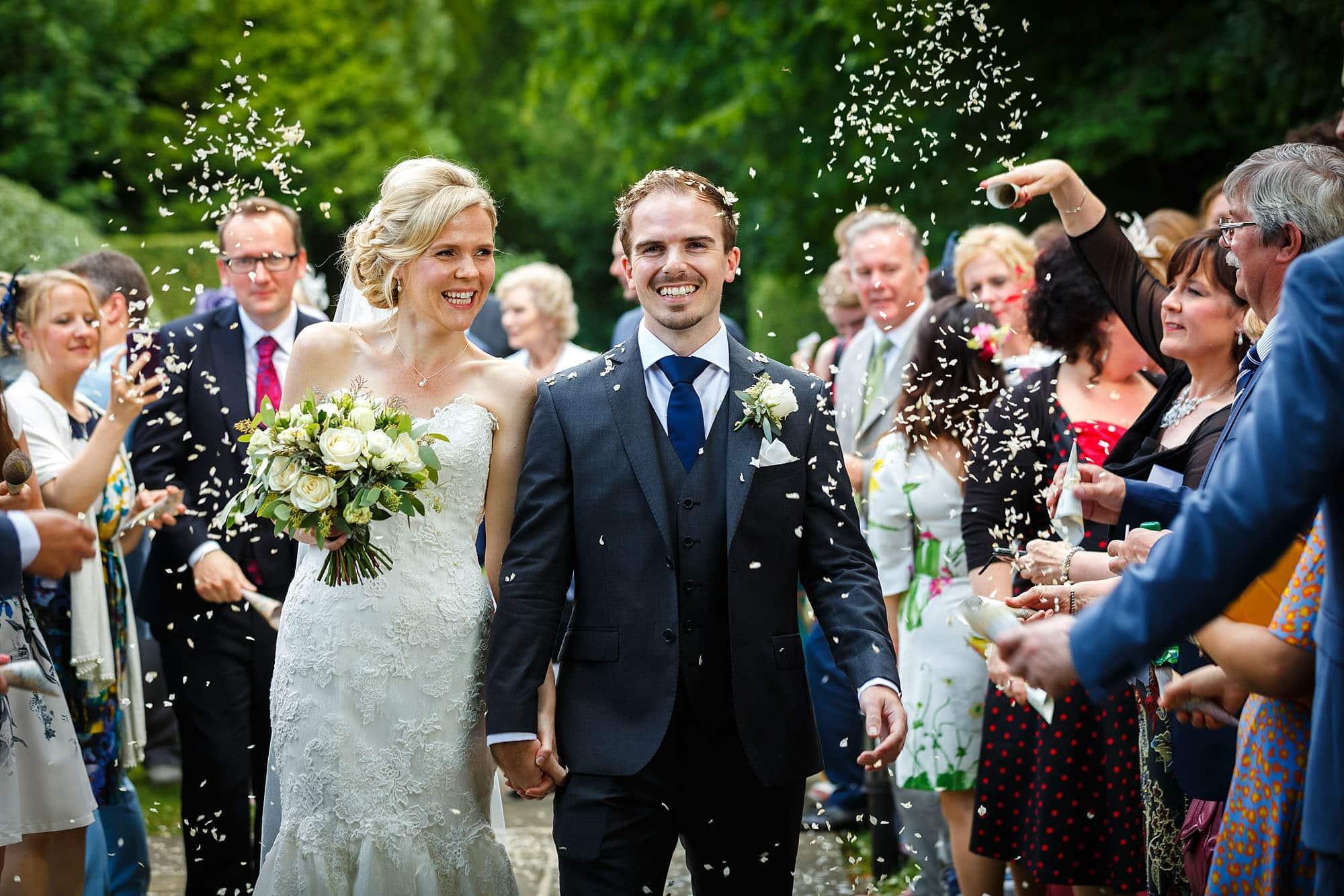 confetti at hengrave wedding